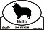 Sheltie Dog Silhouette Bumper Sticker