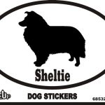 Sheltie Dog Silhouette Bumper Sticker 1