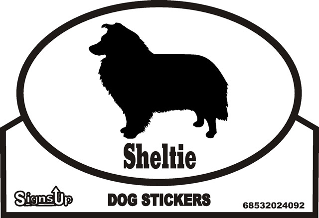 Sheltie Dog Silhouette Bumper Sticker
