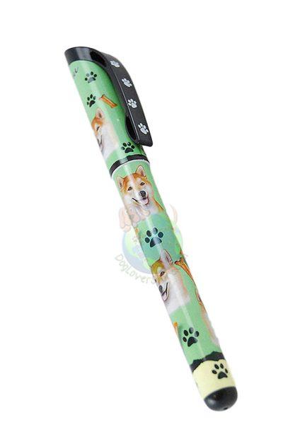 Shiba Inu Writing Pen Green in Color