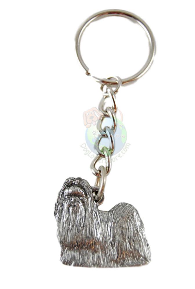 Shih Tzu Pewter Keychain