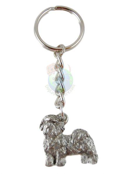 Shih Tzu Puppy Cut Pewter Keychain