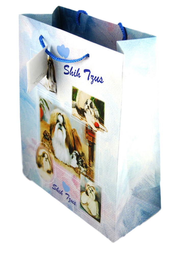 Shih Tzu Gift Bag Blue in Color