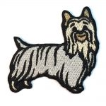 Silky Terrier Iron on Embroidered Patch