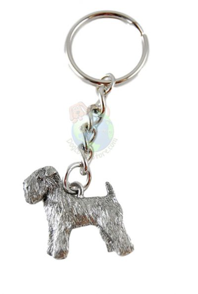 Soft Coated Wheaten Terrier Pewter Keychain