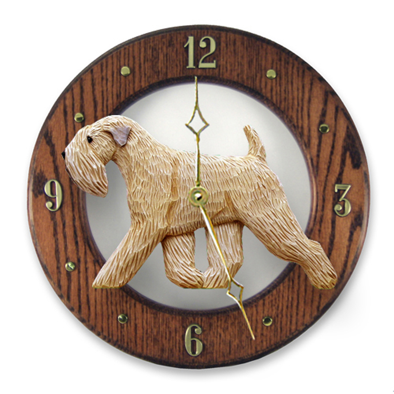 Soft Coated Wheaten Dog Clock