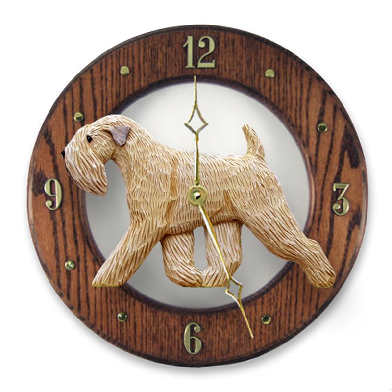 Soft Coated Wheaten Dog Clock