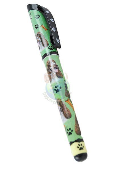Cocker Spaniel Dog Pen Replaceable Ballpoint Black Ink Blonde