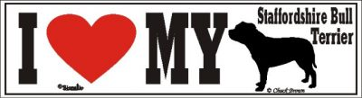 Staffordshire Bull Terrier_dog_love_bumper_sticker
