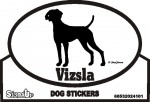 Vizsla Dog Silhouette Bumper Sticker