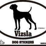Vizsla Dog Silhouette Bumper Sticker 1