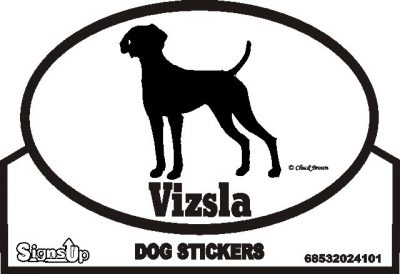 Vizsla Dog Silhouette Bumper Sticker 1
