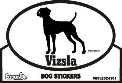 Vizsla Dog Silhouette Bumper Sticker