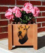 Welsh Terrier Planter Flower Pot