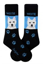 Westie Socks - Black & Blue in Color