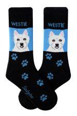 Westie Socks - Black & Blue in Color