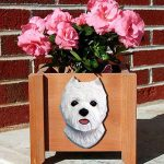 Westie West Highland Terrier Planter Flower Pot 1