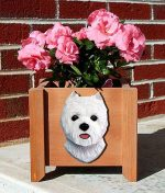 Westie West Highland Terrier Planter Flower Pot
