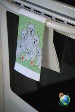 Westie Kitchen Hand Towel