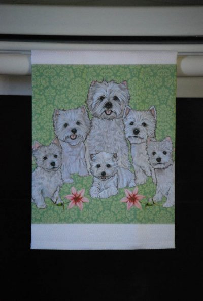 Westie Kitchen Hand Towel 2