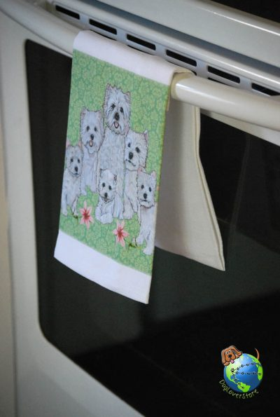 Westie Kitchen Hand Towel 1