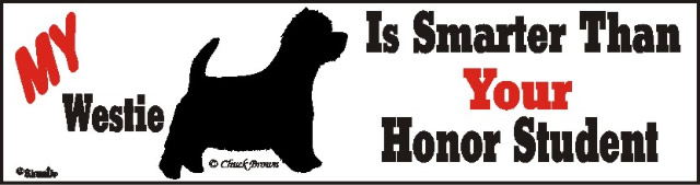 Westie Smart Dog Bumper Sticker