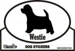 Westie Dog Silhouette Bumper Sticker