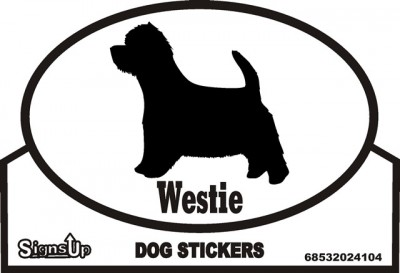 Westie Dog Silhouette Bumper Sticker 1