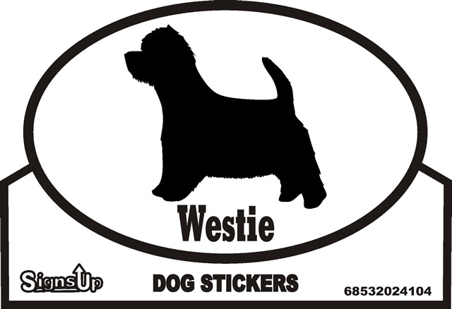 Westie Dog Silhouette Bumper Sticker