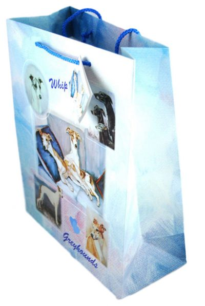 Whippet Gift Bag Blue in Color