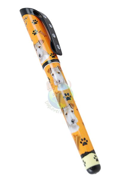 Wire Fox Terrier Writing Pen Orange in Color