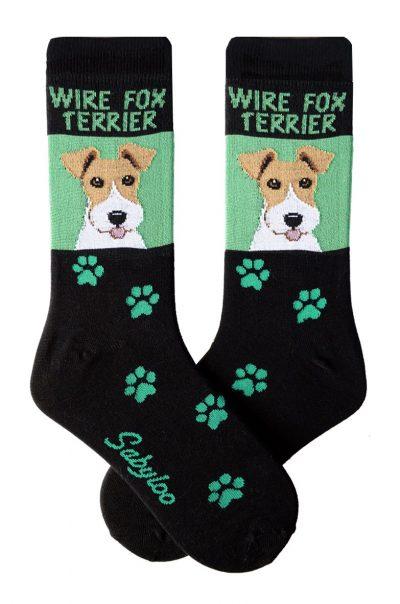 Wire Fox Terrier Socks Green