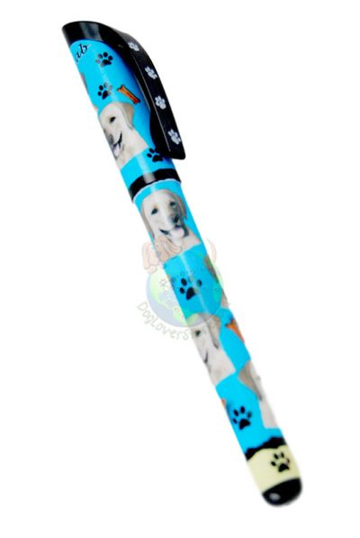 Yellow-Lab-Dog-Gel-Replaceable-Writing-Pen-Ballpoint-Black-Ink-400287852177
