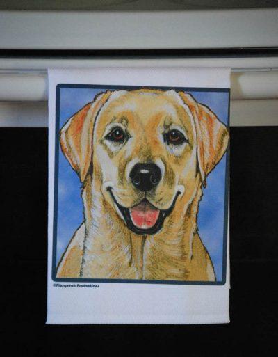 Yellow Labrador Kitchen Hand Towel 2