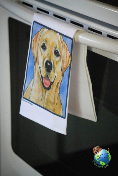 Yellow Labrador Kitchen Hand Towel 1