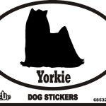 Yorkie Dog Silhouette Bumper Sticker 1