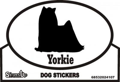 Yorkie Dog Silhouette Bumper Sticker