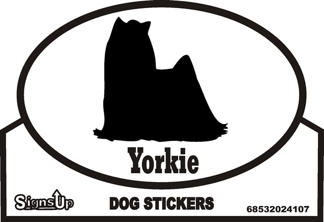 Yorkie Silhouette Bumper Sticker