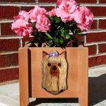 Yorkie Planter Flower Pot Standard Cut 1