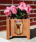 Yorkie Planter Flower Pot Standard Cut