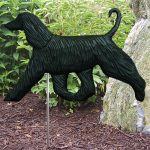 afghan-garden-sign-figurine-black