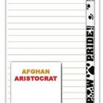 Afghan Hound Notepad