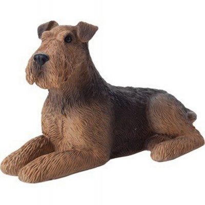 Airedale Figurine Hand Painted - Sandicast