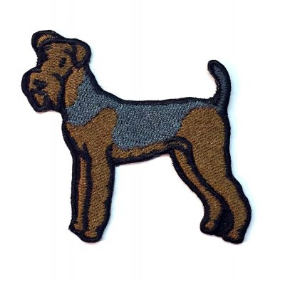 Airedale Iron on Embroidered Patch