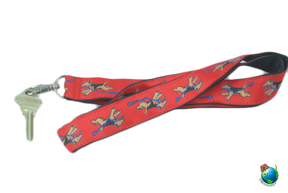 Airedale Lanyard Key Holder Badge Holder