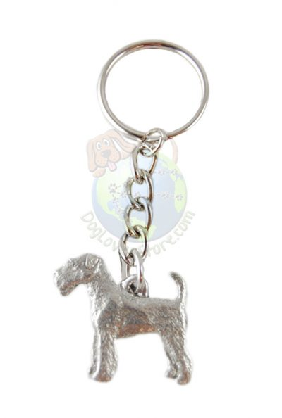 Airedale Pewter Keychain