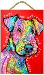 Airedale Sign - A Dog Sees Past the Horizon and Into Your Heart 7 x 10.5