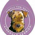 Airedale Terrier Sticker 4×4″ 1