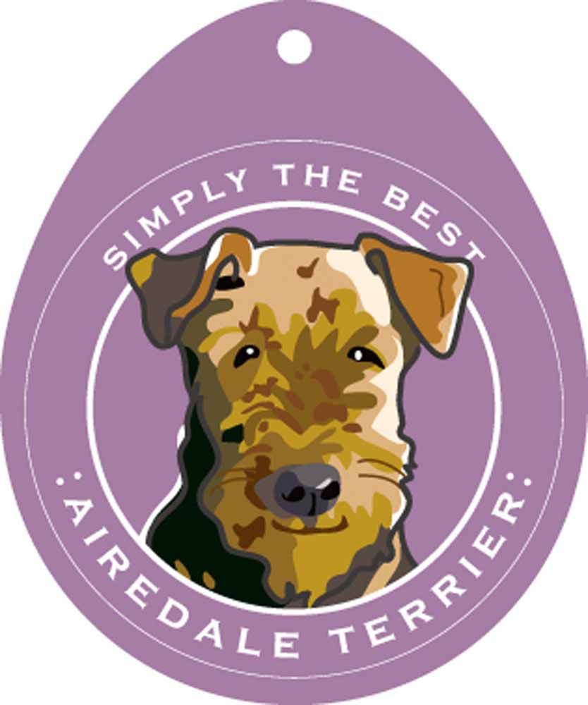 Airedale Terrier Sticker 4x4""
