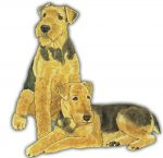 Airedale Wooden Magnet